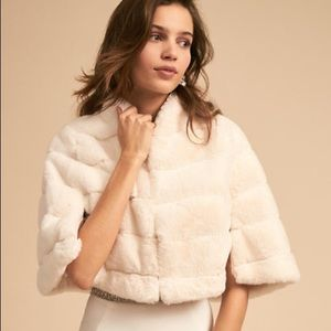 BHLDN Armitage Jacket Bridal Faux Fur Wrap